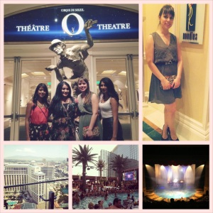 Marquee pool party and Cirque du Soleil